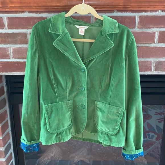 Sundance Jackets & Blazers - Sundance Green Velvet Blazer Size 8